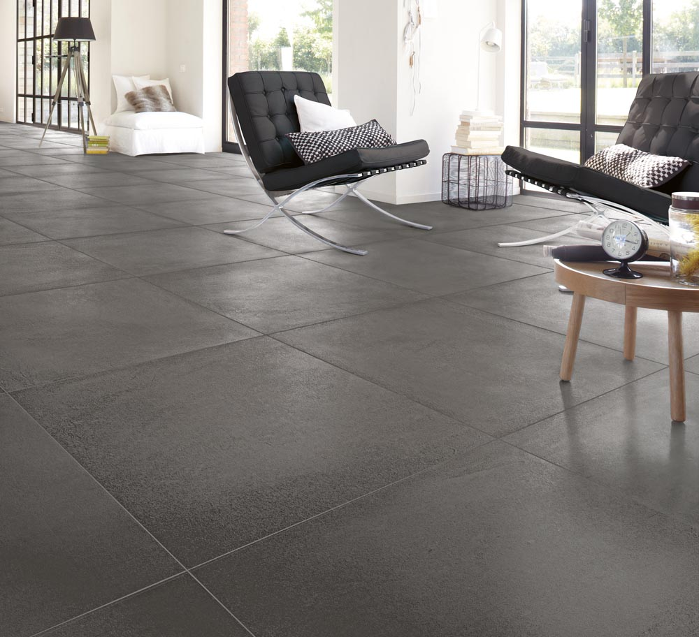 Carrelage sol gris brillant fashion designs Carrelage salon